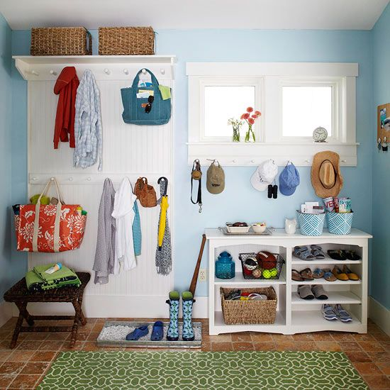 Get your home organized with the pretty ideas to add extra shelving, storage and other decluttering ideas into your living room, bedroom and kitchen. Learn how to make 2016 the year of less stress and more organization while still staying on budget.