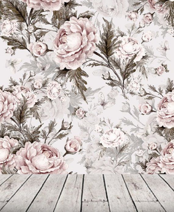 Remove Wall Paper Peel And Stick Wallpaper Floral Wall Mural Etsy Floral Wallpaper Removable Wallpaper Peel And Stick Wallpaper