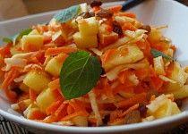 Celerovo-jablkovo-mrkvový salát