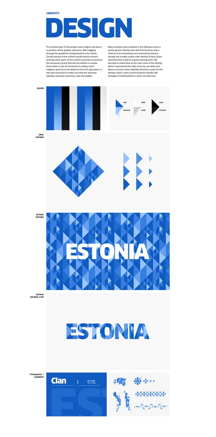 Estonia's flag and Nordic folk heritage was the inspiration for the new identity of Estonia's sailing costumes for the 2016 Rio Summer Olympics.