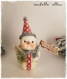 Image result for paper clay snowman