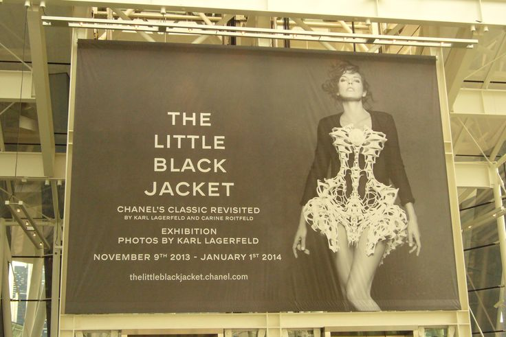 The Little Black Jacket Exhibition by Chanel.