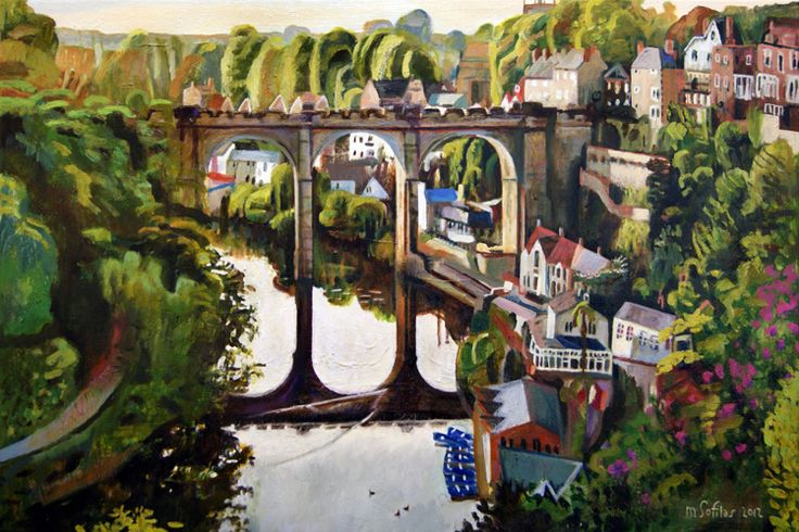 Beautiful late afternoon light at Knaresborough, North Yorkshire. Format: Limited edition Giclee printed on 310 gsm PH neutral fine art archival paper. Single mounted  The prints are signed & come with a certificate of authenticity. Print size: 31x 46cm Mounted size: 43 x 58cm
