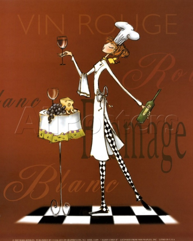 Vin Rouge--cute poster in a kitchen
