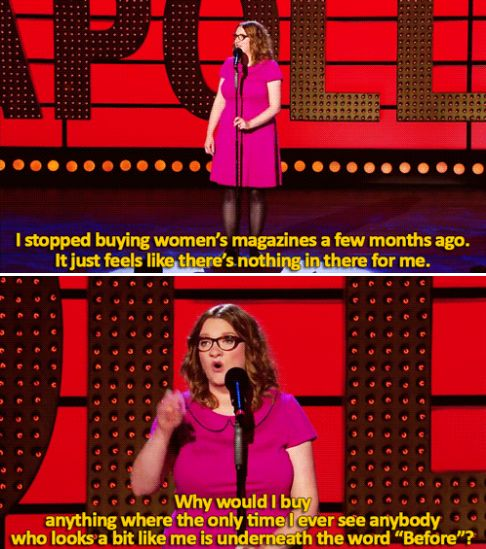 When she called out women's magazines on their bullshit. | 23 Times Sarah Millican Proved She's The Funniest Woman In Britain