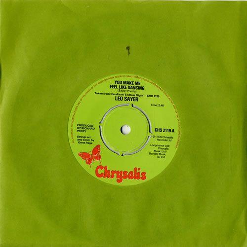 "Leo Sayer You Make Me Feel Like Dancing 7"" vinyl single (7 inch record) UK LSY07YO242425"