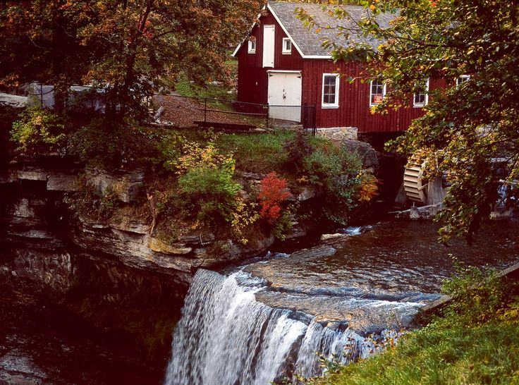 """""""Grist Mill"""" by matt.manjos on Flickr - DeCew Falls, one of the favorite spots with its picturesque waterfall and historic mill is located in St. Catharines, Ontario, Canada.  This is Morningstar Grist Mill built of local stone in 1872 on the site of a former blacksmith and carpentry shop.  Several millers leased the mill, and in 1883, it was purchased by Wilson Moringstar, after whom it is named."""