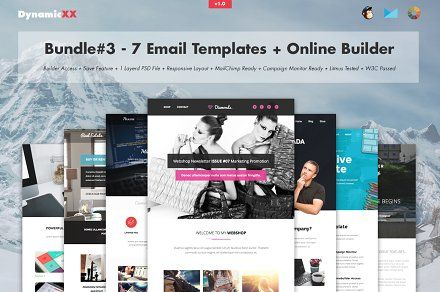 Bundle#3 - 7 Email Templates+Builder