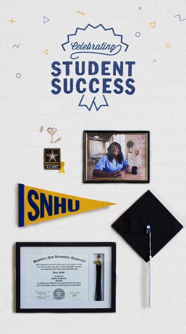 Our students come from all walks of life. Take Dana, a military veteran and now a nurse thanks to her SNHU degree. Let's start celebrating your success.