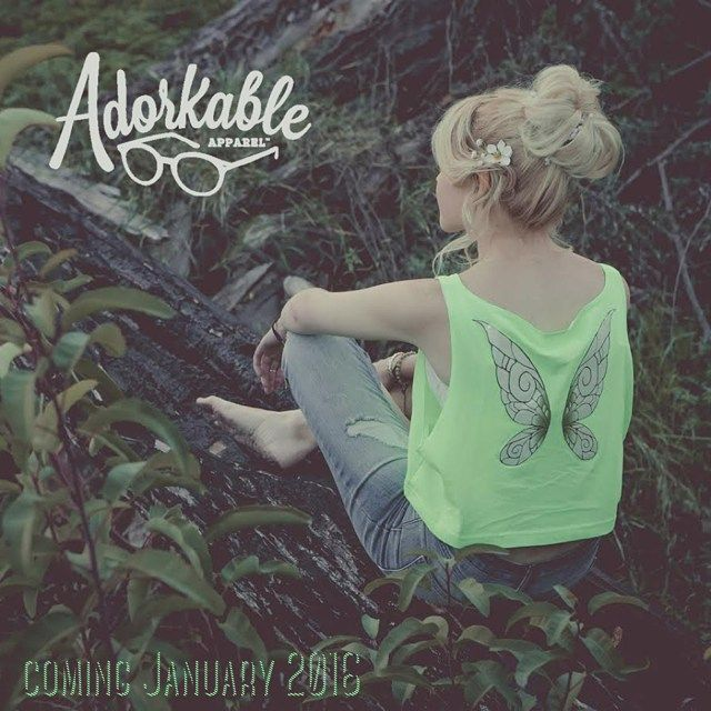 Adorkable Apparel Tinkerbell inspired Pixie crop tank