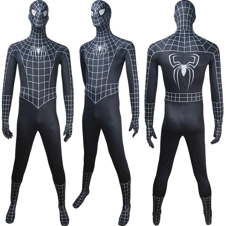 Men kids Venom Spider-Man black costume superhero outfit halloween costume x'mas christmas gift toys comic-con make-up outfit fancy dress