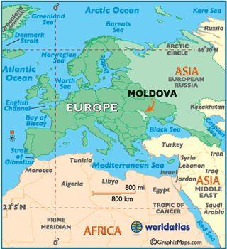 Mapa localizador de Moldova