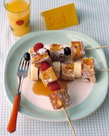 French Toast Kabobs...so smart!: Breakfast In Beds, Toast Kebabs, Brunch Ideas, Fruit Kabobs, French Toast, Brunch Parties, Toast Kabobs, Frenchtoast, Kid