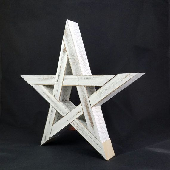 Rustic Wood Star Tree Topper by LoganSquareWoodworks on Etsy