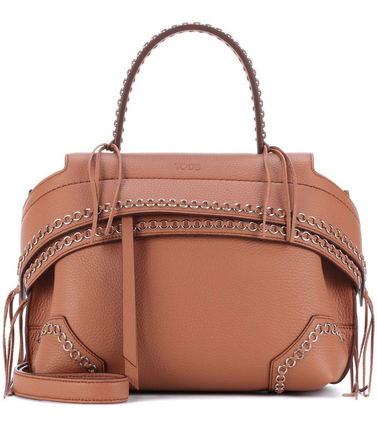 Tod'S Wave Mini embellished leather tote