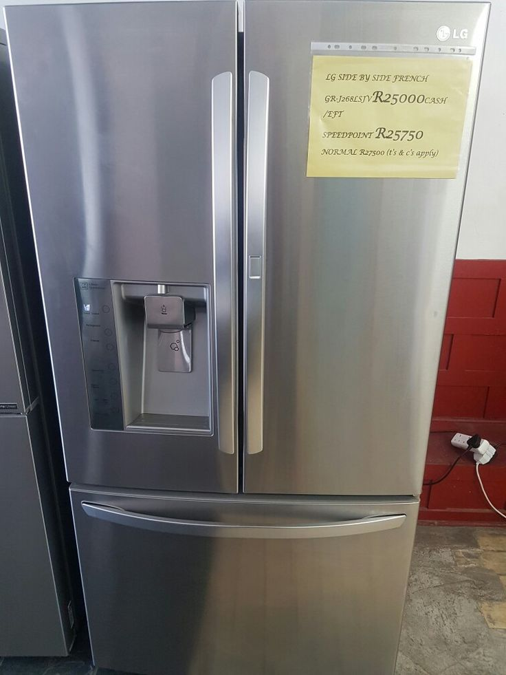 Get this Amazing deal only at Demostock.  LG 694l French Door fridge freeser with water and ice dispenserand a foor in door for the low price of R25000. Perfect for any kitchen, it offers easy acces to the fridge and a sliding door for the freezer. With shelves over the ice maker so that all space is used. Sliding shelves inside the fridge for you bigger stuff. Never have a problem with space again. Contact me on 0763429175 While stocks last T's and C's apply