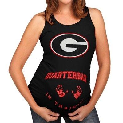 Georgia Bulldogs Ladies Black QB in Training Maternity Tank Top   @Tabitha Ellenburg @Misty Burnham