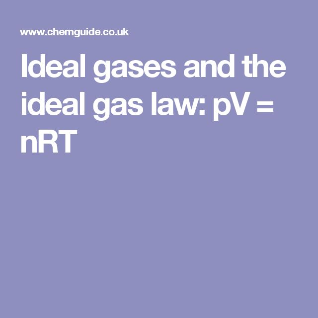 Ideal gases and the ideal gas law: pV = nRT