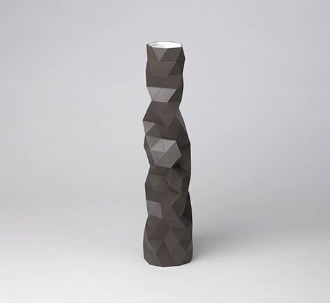 The Minimalist - Faceture Vase by Phil Cuttance / Charcoal