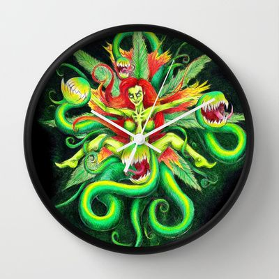 Poison Wall Clock by ReadThisVA - $30.00