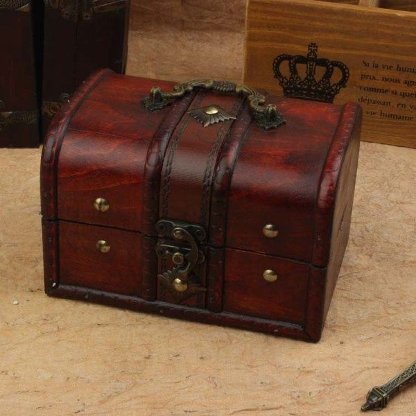 Best-selling Europen type restoring ancient wooden boxes with lock wooden jewelry box manufacturers selling for gift $28.00 $19.60 Color Choose an option As Picture Note Buyer:please allow 3-4 wee…