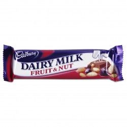 Cadbury Fruit and Nut Chocolate Bar - 1.72oz (49g) - the English variety, not the American. Want by the crate-full.