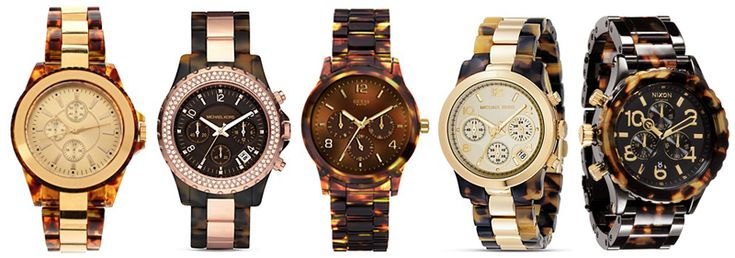 Thanks to Honestly...WTF, I too am now obsessed with Tortoise shell watches.
