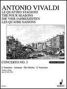 Concerto Op. 8, No. 3 Autumn - Violin and Piano Reduction