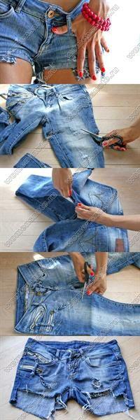 Как из джинс сделать модные шорты