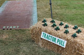 Tractor game at the John Deere party!