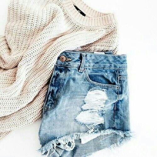 sweater + shorts