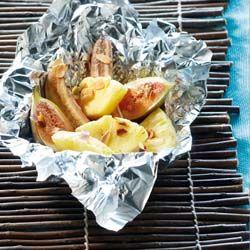 Jan Linders - Gegrilde bananen, vijgen en ananas.