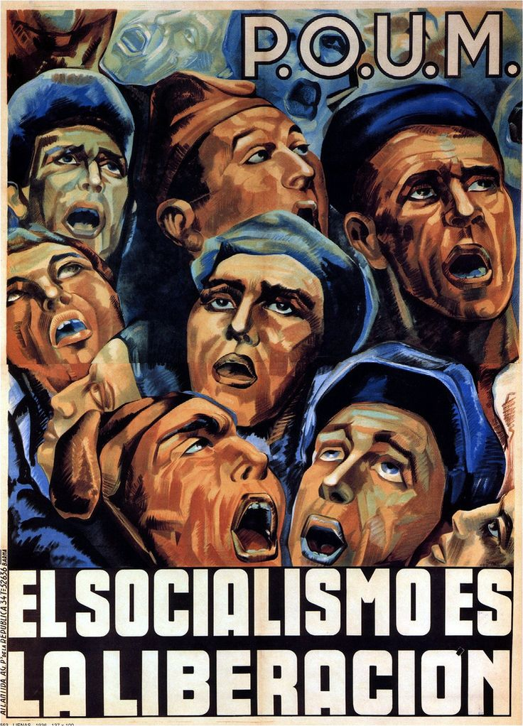 1936 Lienas. Socialism is Liberation (Worker's Party of Marxist Unification, 1936)