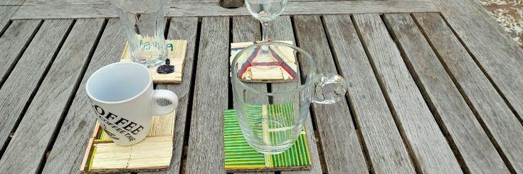 Moederdag-Vaderdag knutselen met knutselhoutjes - onderzetters van luciferstokjes - Crea met Kids