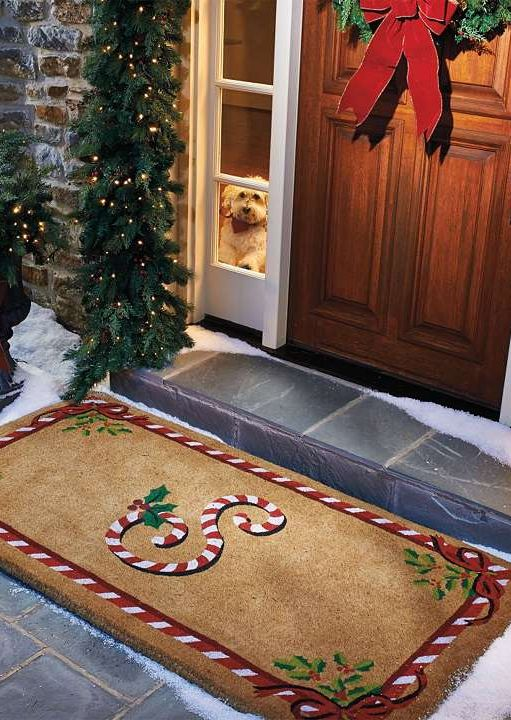 Sweeten your holiday greeting with our Holiday Door Mats.