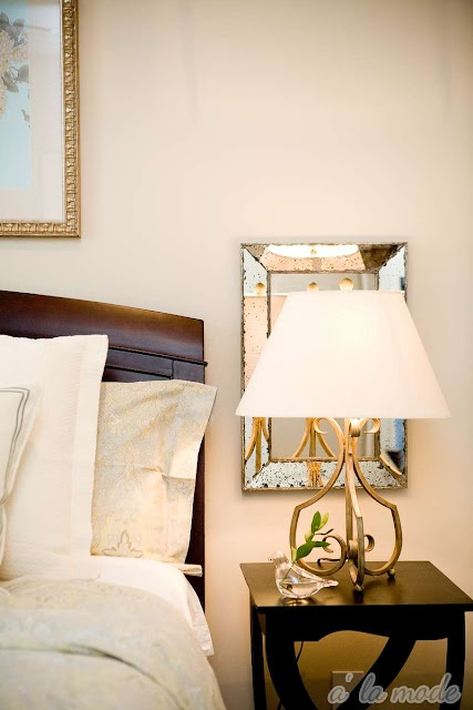 17 Best Ideas About Mirror Behind Nightstand On Pinterest Small Master Bedroom Teal Bedside