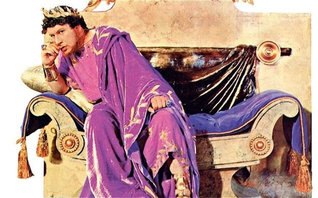 Purple clothing was a status symbol and reserved only for emperors or senators. To achieve the color, a dye was made from murex seashells. It was treason for anyone other than the emperor to dress completely in purple.