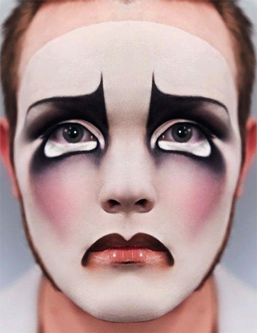 I'm still loving the sad clown looks @ Sam McHardy. High fashion make up. Editorial beauty look.