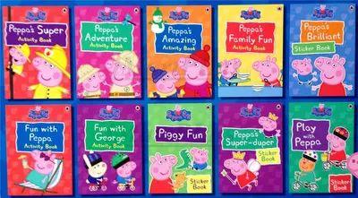 Peppa Pig Peppa Pig Sticker Book Книга Подлинная ручной работы детские книги на английском языке внешней торговли только эта продажа - Taobao