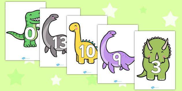 Cijferlijn: Numbers 0-20 on Dinosaurs