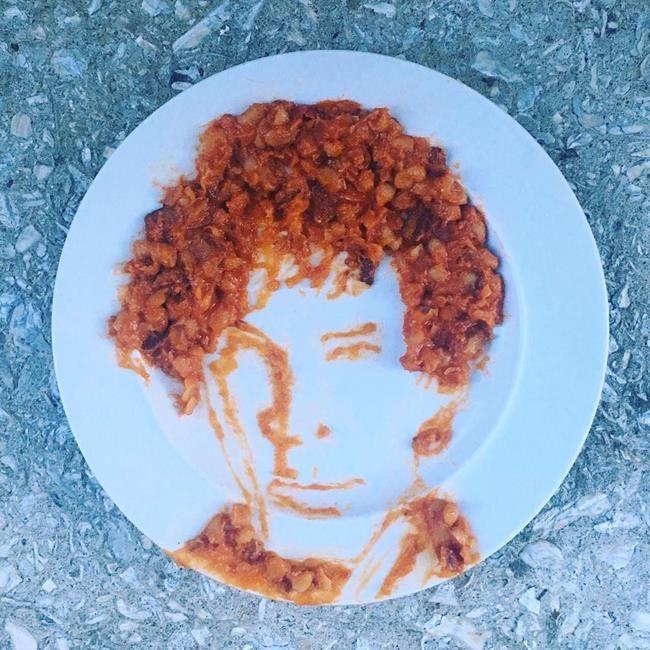 """Ünlü Yüzleri ve Sanat Eserlerini Yiyeceklerle Resmeden Sanatçı: """"Harley Langberg"""" Sanatlı Bi Blog 10"""