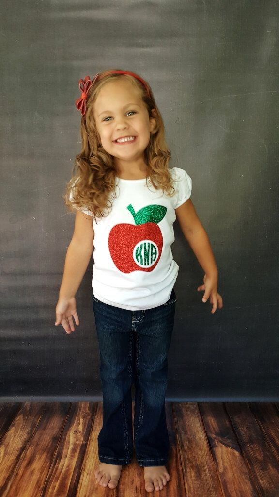 Monogram Apple Shirt, Back to School Shirt, Kindergarten Shirt, Preschool Shirt, Back to School Outfit, Apple Monogram Shirt by KeiraKloset on Etsy https://www.etsy.com/listing/466498397/monogram-apple-shirt-back-to-school