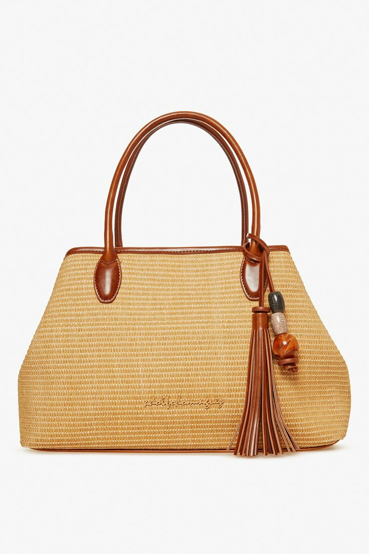 Julia Raffia Shopper Bag - tote bags | Adolfo Dominguez