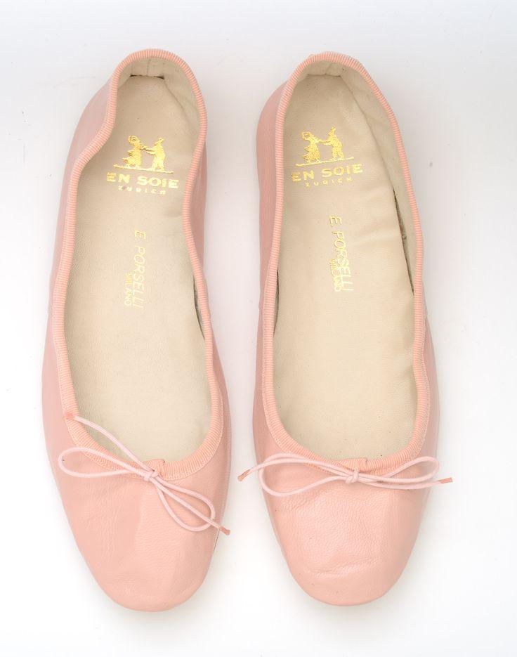 Pink Porselli Ballet Flats En Soie