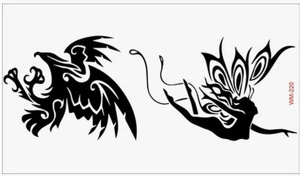 (Минимальный заказ $0.5) Временные Татуировки Для мужчина Женщина Водонепроницаемый Наклейки макияж maquiagem макияж Ангел Орел татуировки WM220
