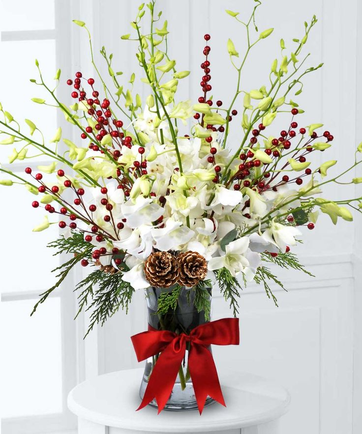 64 best Christmas Arrangements images on Pinterest | Flower ...