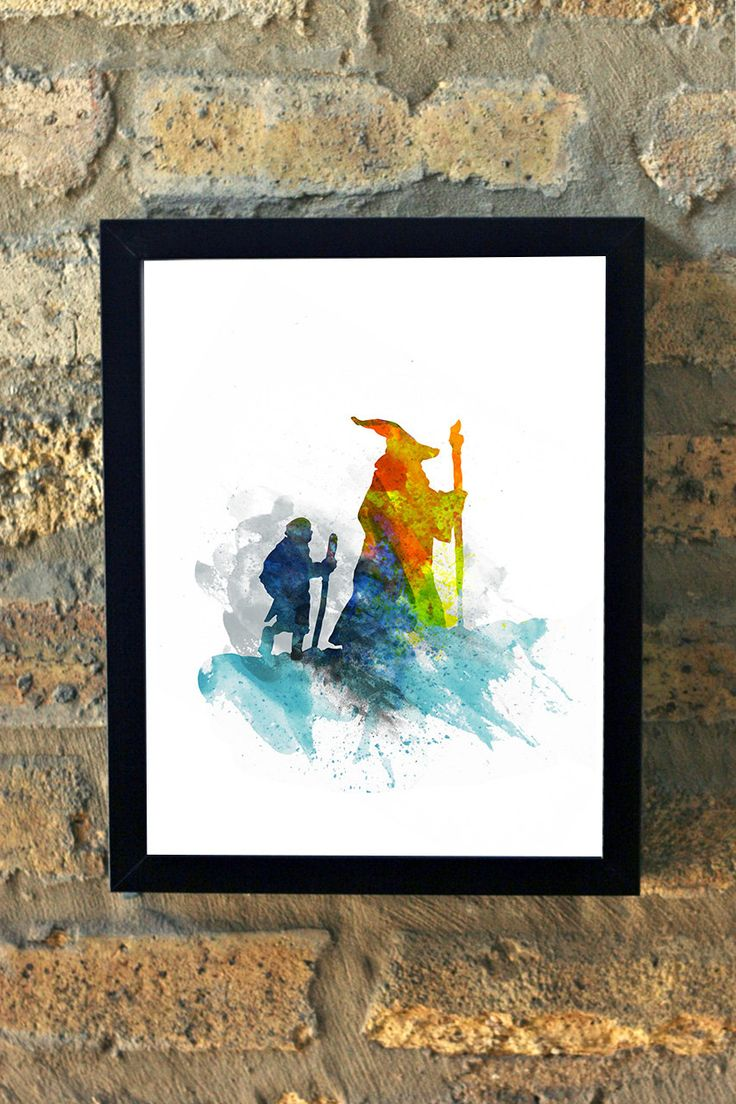 Gandalf Lord of the Rings Frodo Bilbo Hobbit Water Color Print Wall Art House Warming New Apartment by MMPaperCo on Etsy https://www.etsy.com/listing/211470389/gandalf-lord-of-the-rings-frodo-bilbo