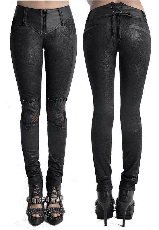 Pantalon Moulant À Motif Vintage Aristocrate ET Nombreuse Décorations Punk Rave | eBay