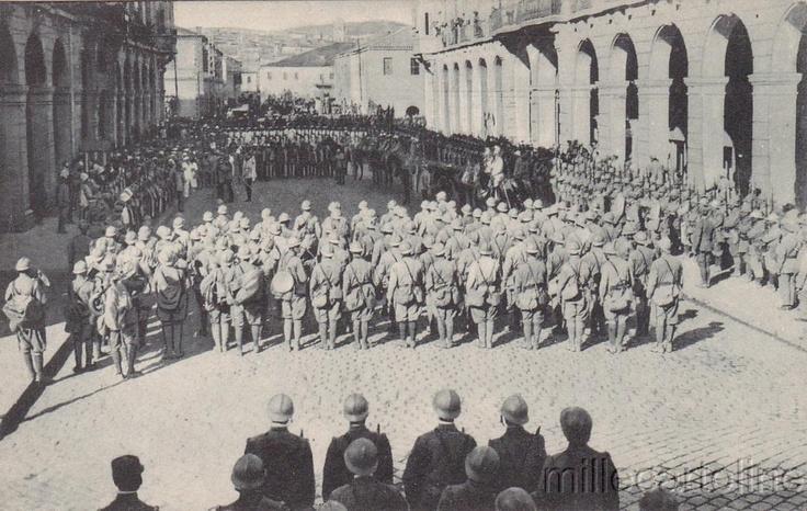 * GREECE - WWI - Thessaloniki - Arrival of Italian troops (1) | eBay