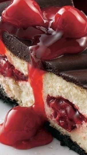 Chocolate Cherry Cheesecake Recipe